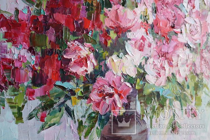 """""""Пионы"""", масляными красками, 70х50 см. Ю. Смаль, фото №10"""