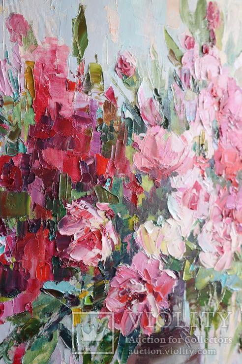 """""""Пионы"""", масляными красками, 70х50 см. Ю. Смаль, фото №13"""