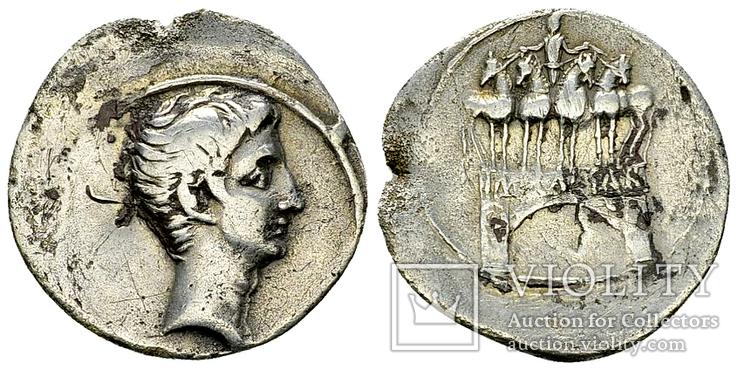 Октавиан Август, денарий, 30-29 до н.э.