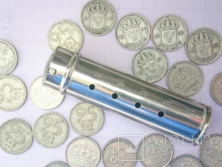 Шведские серебряные монеты, 26 шт.