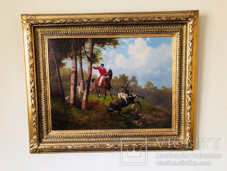 Картина Охота на лося