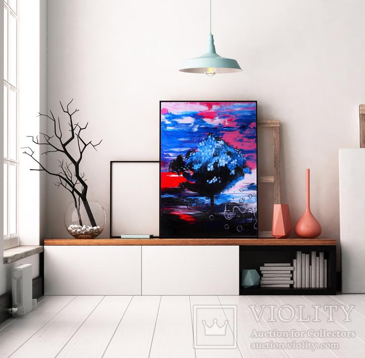 Электрические сны (масло/холст) 80х60 см, фото №5