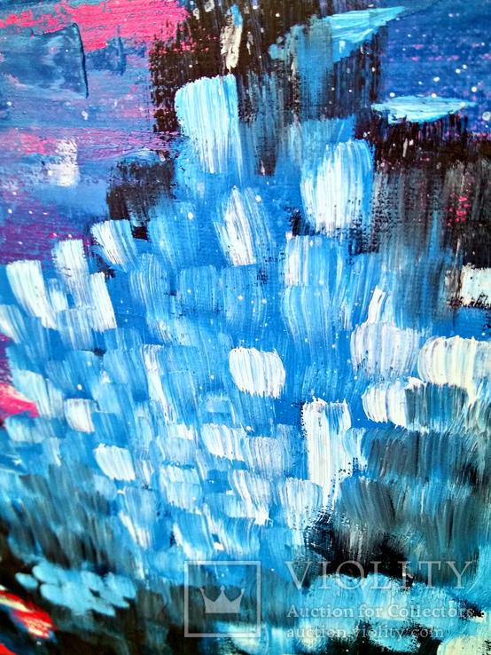 Электрические сны (масло/холст) 80х60 см, фото №7
