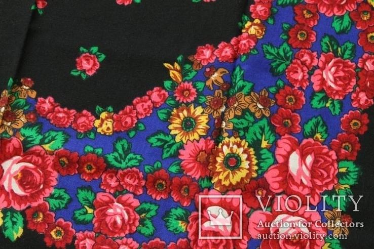 Шерстяной старинный платок №138, фото №6
