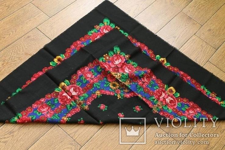 Шерстяной старинный платок №138, фото №9