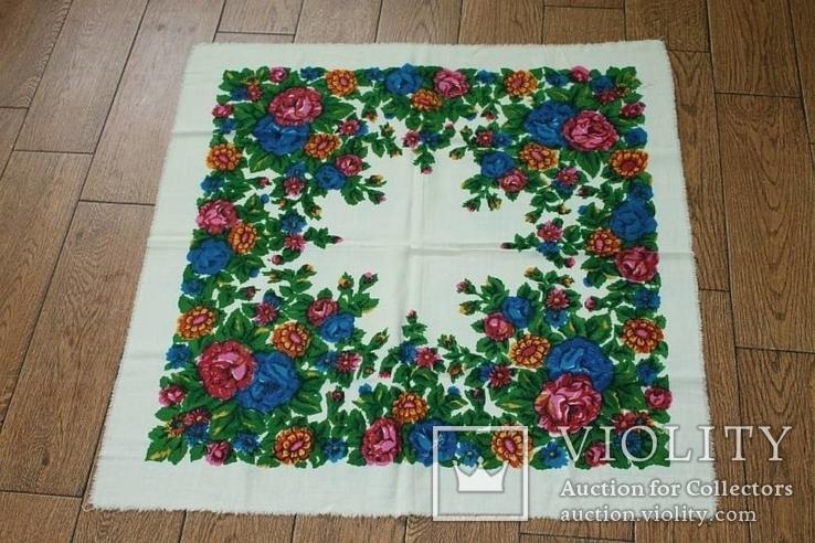 Шерстяной старинный платок №137