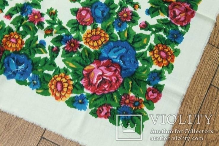 Шерстяной старинный платок №137, photo number 6