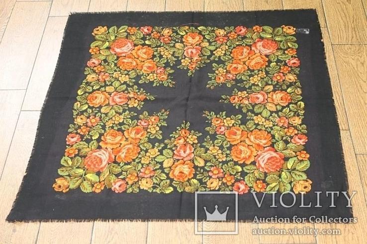 Шерстяной старинный платок №135, фото №2