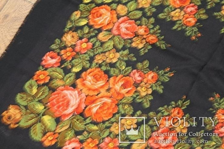 Шерстяной старинный платок №135, фото №6
