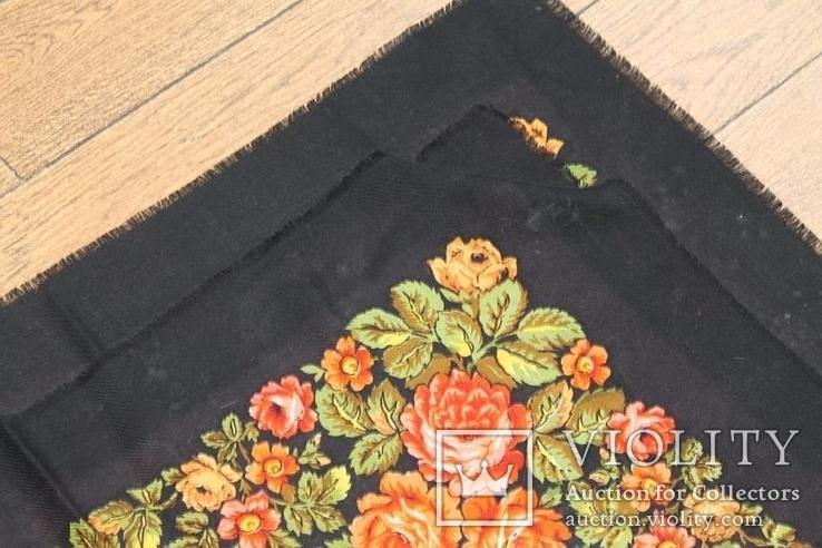 Шерстяной старинный платок №135, фото №9