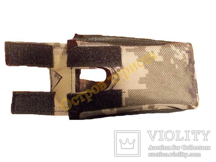 Каплезащитный чехол на блок металлоискателя металлодетектора  для XP Deus камуфляжный, фото №5