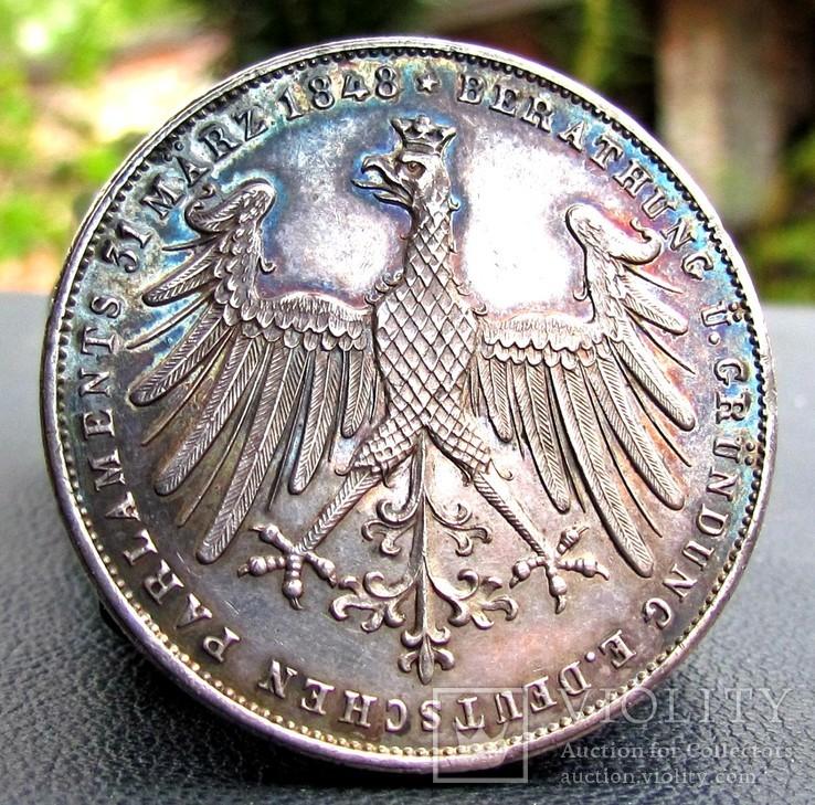 2 Гульдени 1848 р. Франкфурт конституція UNC