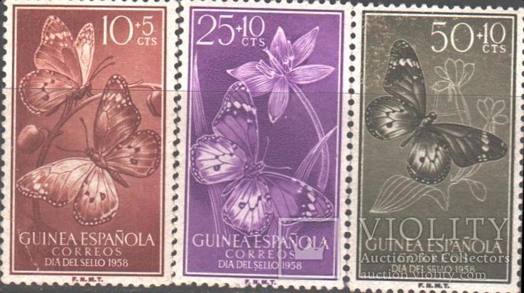 Испанская Гвинея. 1958. Бабочки **.