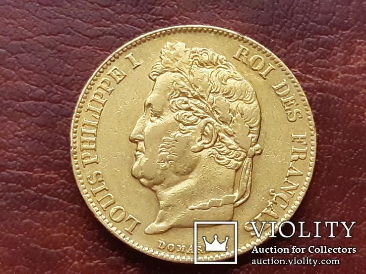 Золото 20 франков 1840 г. Луи-Филипп І. Франция