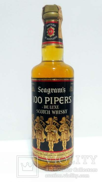 Seagram's 100 Pipers - 1970s (75cl, 40%)