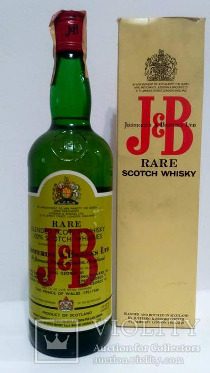 J&B RARE Scotch Whisky 75cl. 40%vol. 70-s +BOX