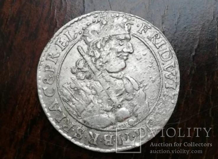 Монета 18 грошей(ОРТ)1684 года Пруссия Кенигсберг