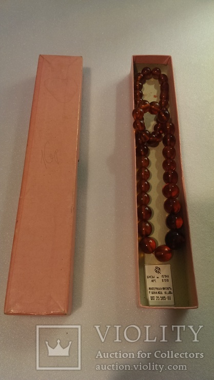 Янтарное ожерелье ОСТ 25565-81