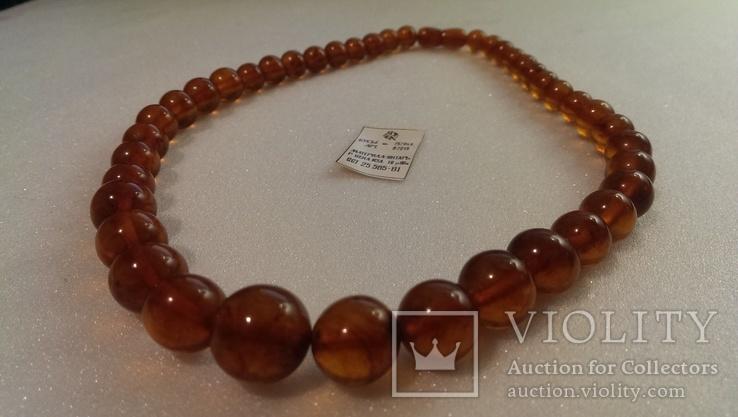 Янтарное ожерелье ОСТ 25565-81, фото №5