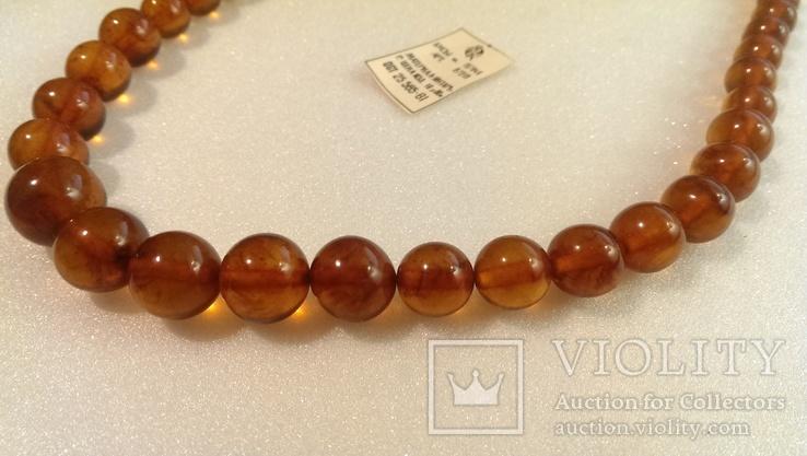 Янтарное ожерелье ОСТ 25565-81, фото №7