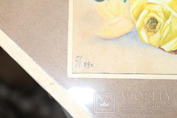 Квітковий натюрморт 29 року з підписом автора Т.Можаровская, фото №5