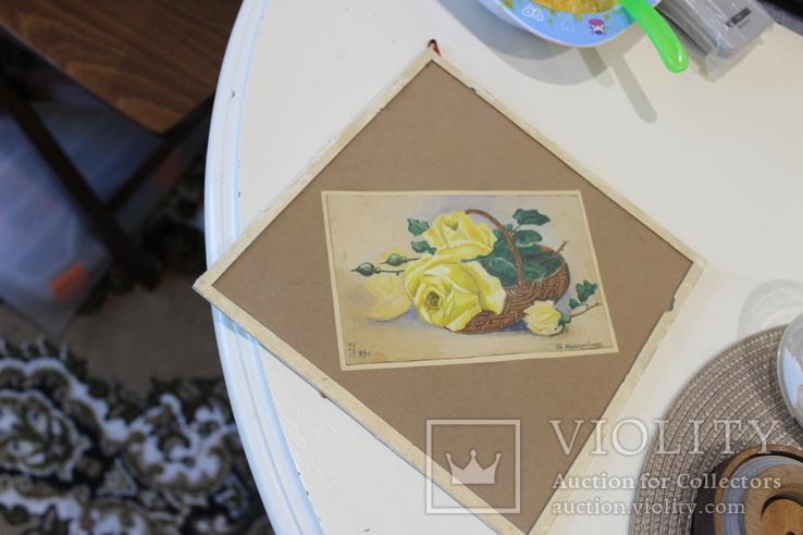 Квітковий натюрморт 29 року з підписом автора Т.Можаровская, фото №11