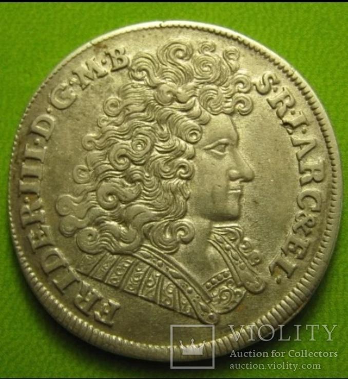 Монета 2/3 талера (гульден) Бранденбург Пруссия 1689