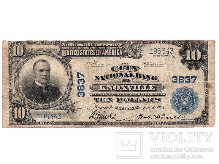 10 долларов 1902, LARGE SIZE