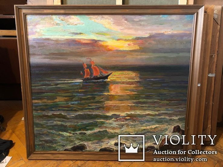 Вечер на море,холст,масло,2003,автор-засл деятель искусств Украины В.Новиковский