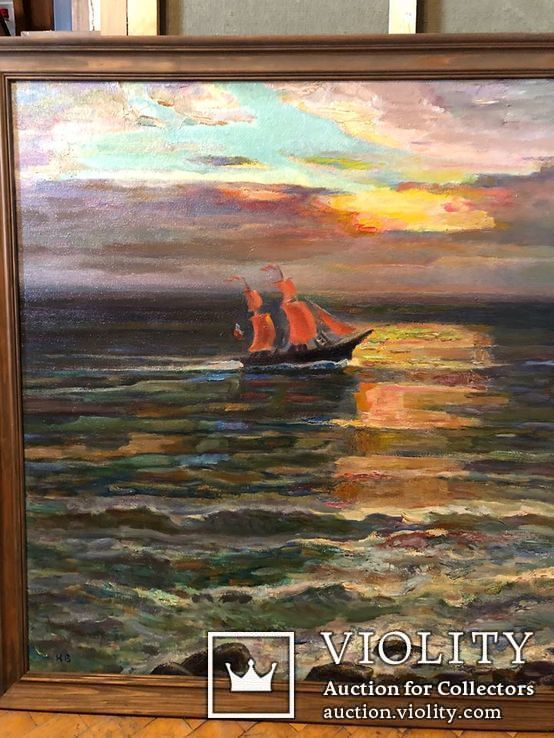 Вечер на море,холст,масло,2003,автор-засл деятель искусств Украины В.Новиковский, фото №4
