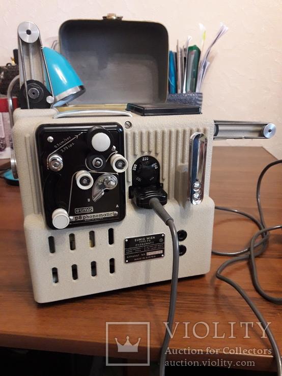 Винтажный кинопроектор Eumig P8 Phonomatic, 50-е годы 20-го века. Австрия., фото №10