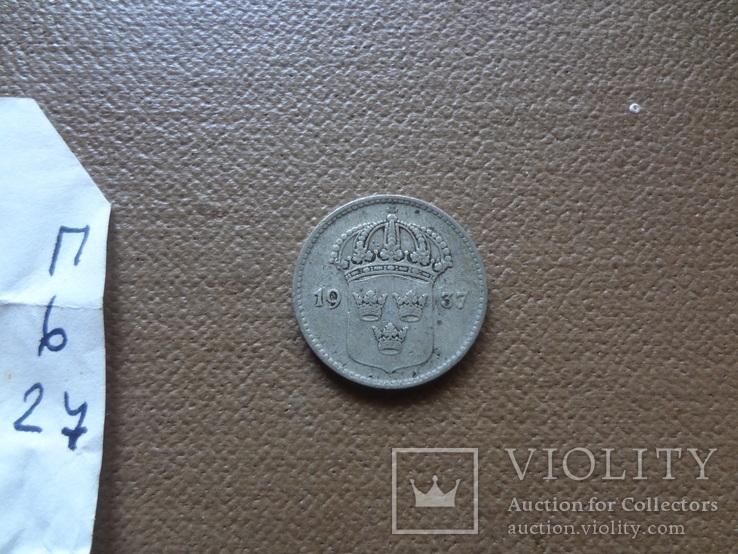 10 эре 1937 Швеция серебро (П.6.28), фото №4