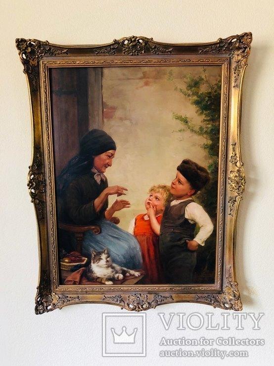 Картина Семья, худ Пауль Вагнер