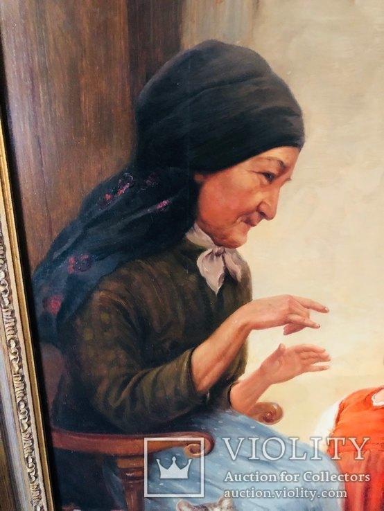 Картина Семья, худ Пауль Вагнер, фото №3