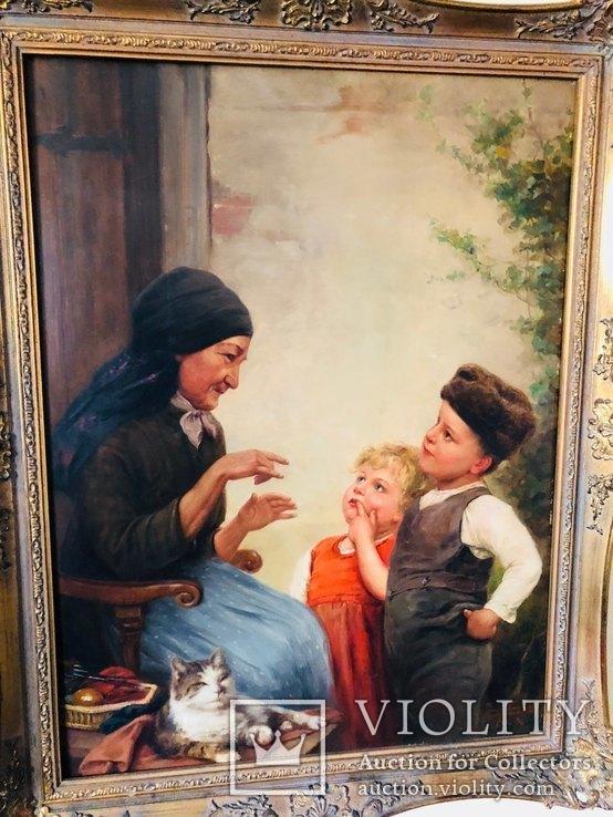 Картина Семья, худ Пауль Вагнер, фото №4