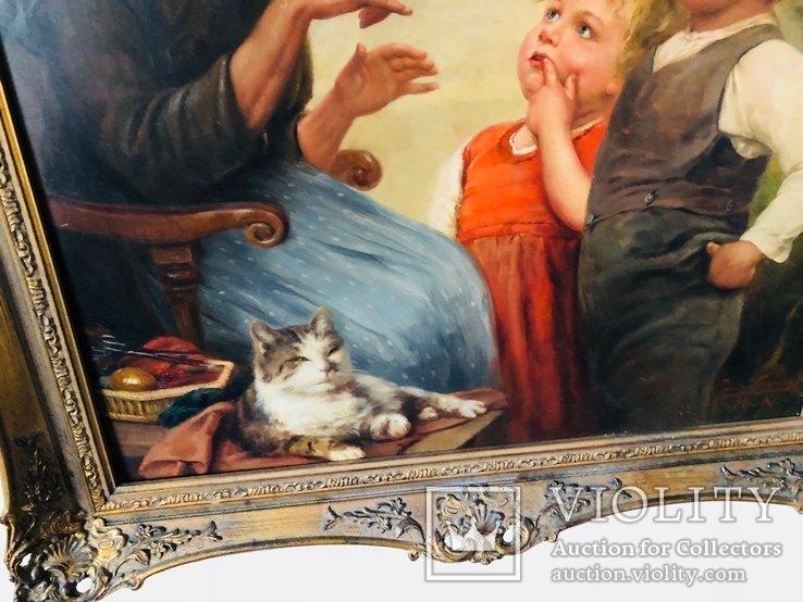 Картина Семья, худ Пауль Вагнер, фото №5