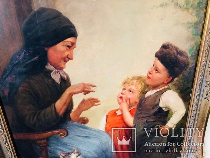 Картина Семья, худ Пауль Вагнер, фото №6