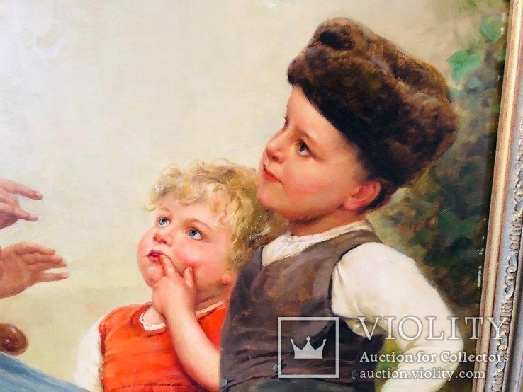 Картина Семья, худ Пауль Вагнер, фото №8