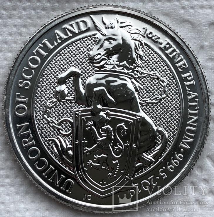 100 фунтов 2019 год Англия платина 31,1 грамм 999,5'