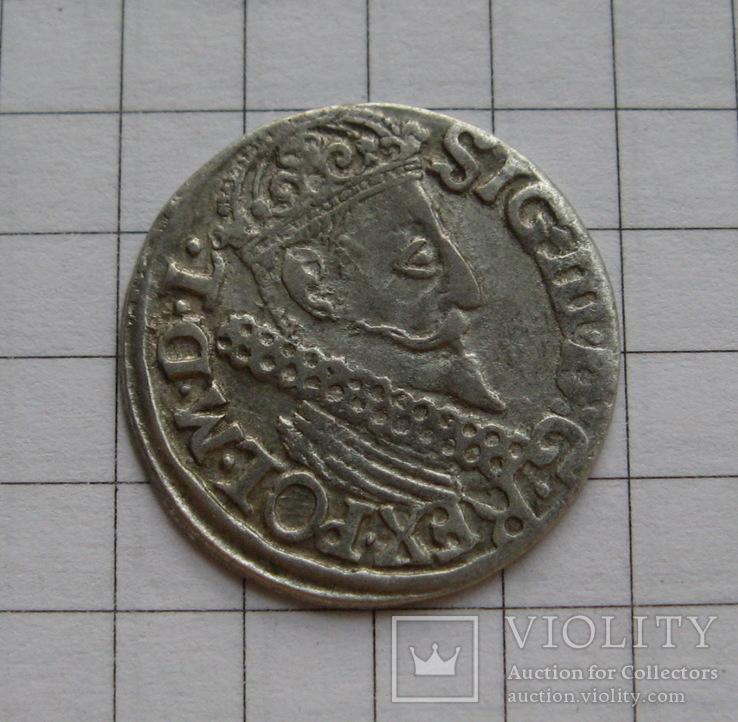 Трояк 1622 года. Сиг. ІІІ Ваза., фото №2