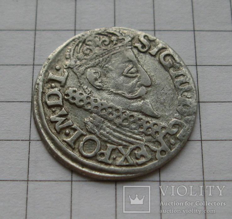 Трояк 1622 года. Сиг. ІІІ Ваза., фото №5