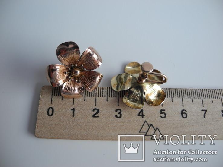 Брош и серьги DIANA ( серебро , позолота ) Америка, фото №6