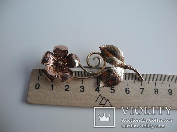 Брош и серьги DIANA ( серебро , позолота ) Америка, фото №10