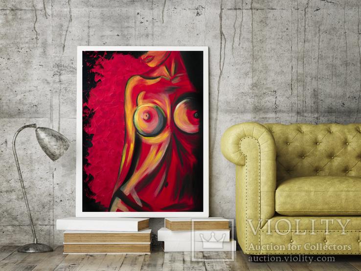 Красная страсть (масло/холст) 60х80 см, фото №4
