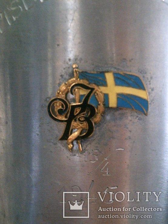 Кубок чаша (Швеция ) алюминий, фото №4