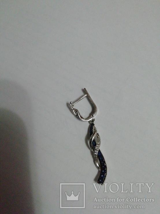 Серёжка серебро 925пр
