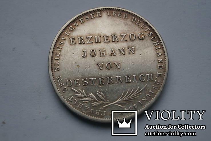 2 гульдена 1848 р. Франкфурт, фото №2