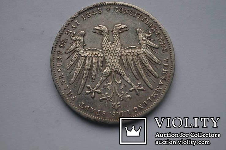 2 гульдена 1848 р. Франкфурт, фото №3
