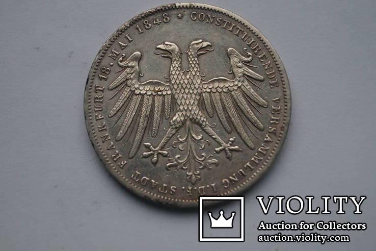 2 гульдена 1848 р. Франкфурт, фото №4