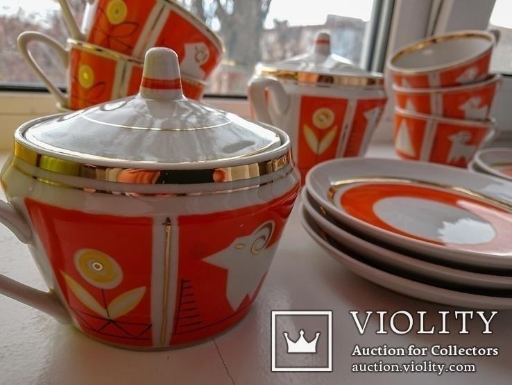 Чайный сервиз на 6 персон. Полонное, 1960-1970-е, фото №2